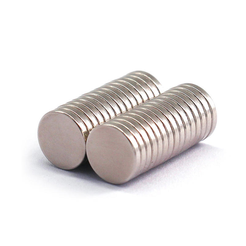 Strong Neodymium Disc Custom Magnets Nickel Coating