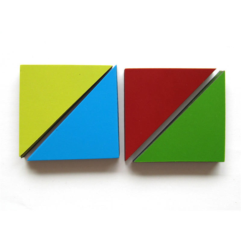 triangle magnet sheets as a magnetic puzzle game set