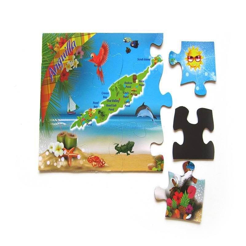Promotional Custom Paper Fridge Magnetic Puzzle