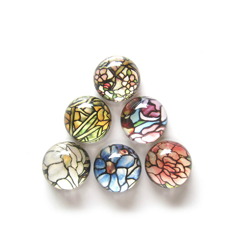 Glass Pebble Magnets, Decorative Magnets