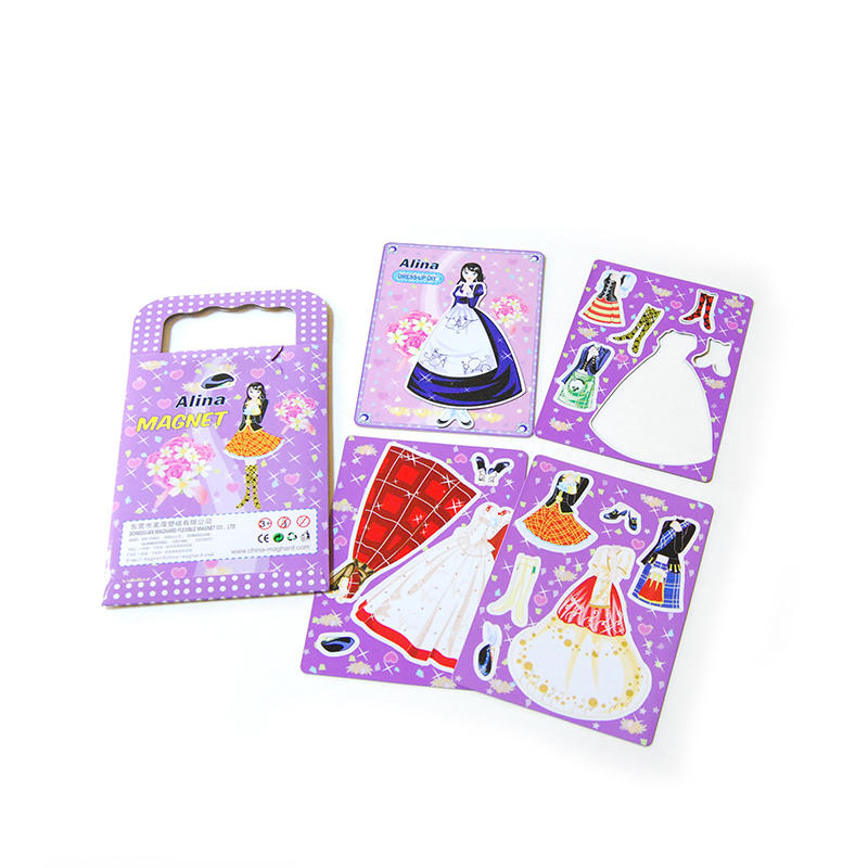 DIY Magnetic Dress-Up Set with Color Box Packing Perfect for Kids Learning