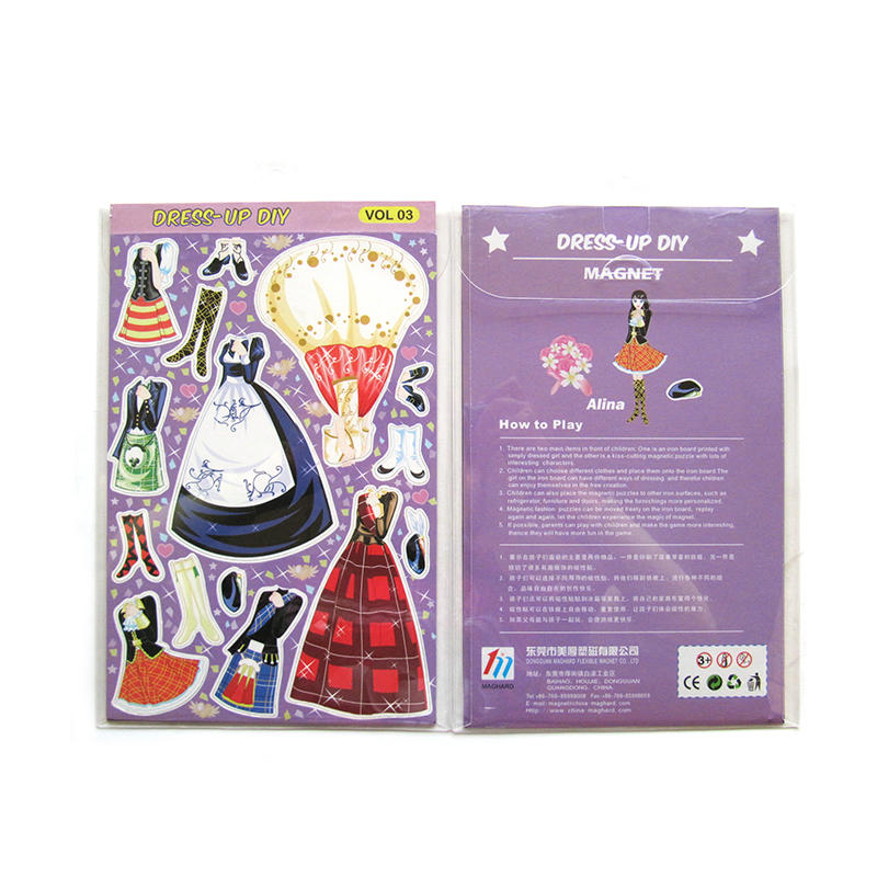 Magnetic Dress-up Pretend Play Doll Set Perfect for Preschool Learning