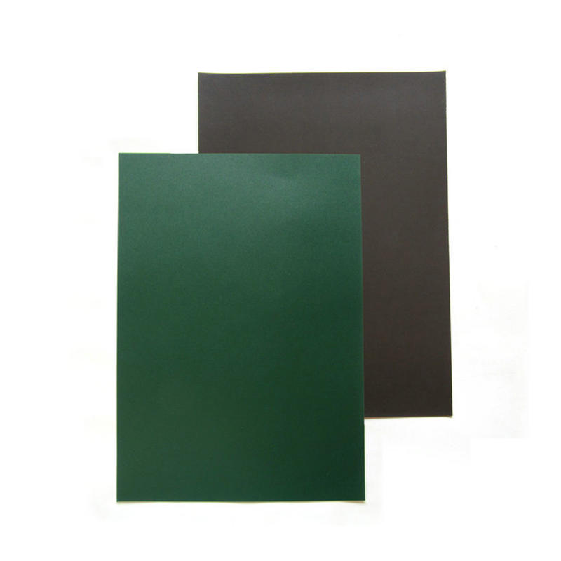 Green Magnetic Dry Erase Board with Chalkboard Design