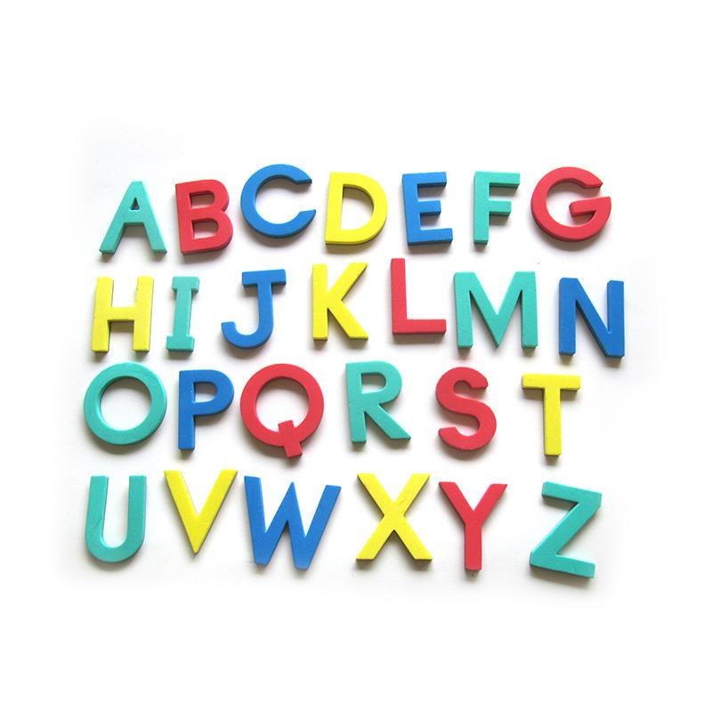 Colorful EVA Foam Magnetic Alphabet Letters for kids learning