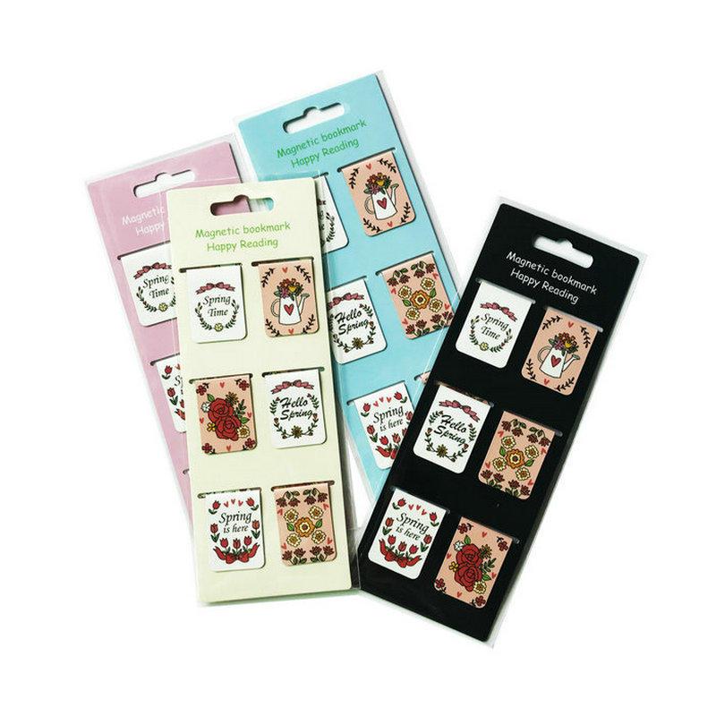 Wholesale custom magnetic bookmark 6pcs pack