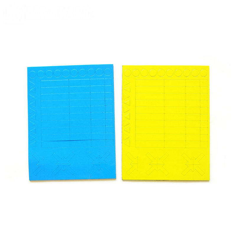 Flexible rubber magnet with color PVC and kiss cut
