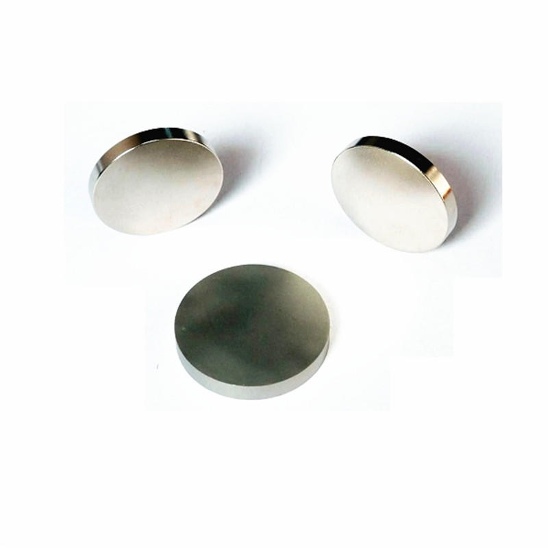 Rare earth material NdFeb Round Shape Ni coated Strong Magnet