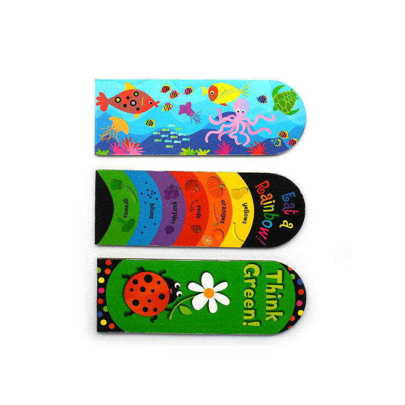 Custom design magnetic bookmark with individual package
