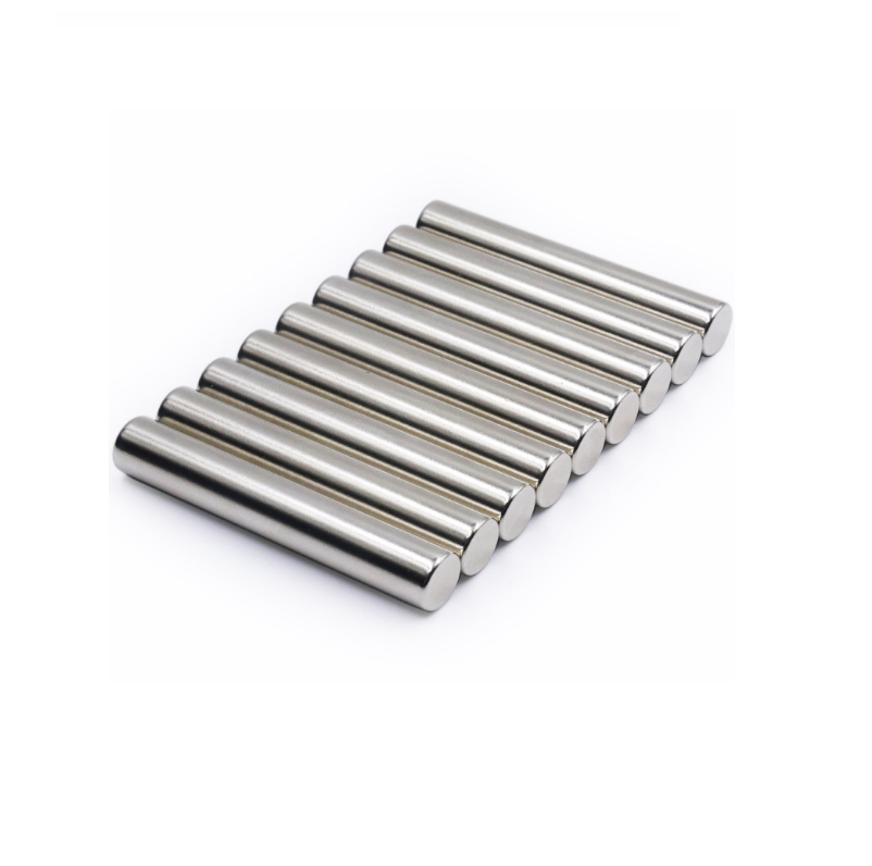 N52 Neodymium Cylinder Magnet (10 x 60mm) with Magnetic Poles on The Sides