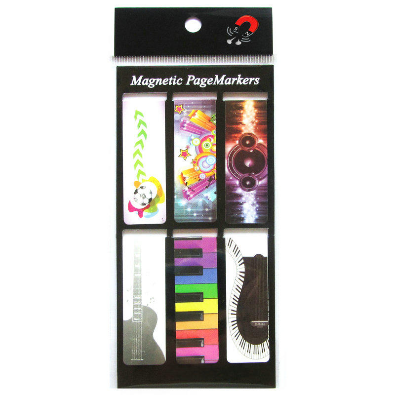 Wholesale custom magnetic bookmark with 6pcs pack