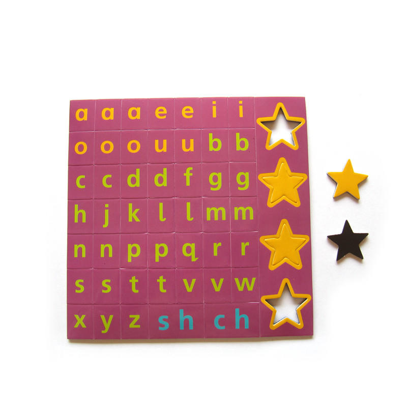 alphabet flat magnet puzzle games for practising children to know more words