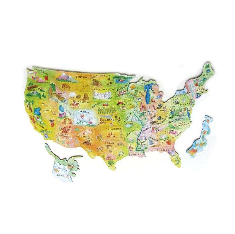 big size Magnetic Map puzzle set with playing board