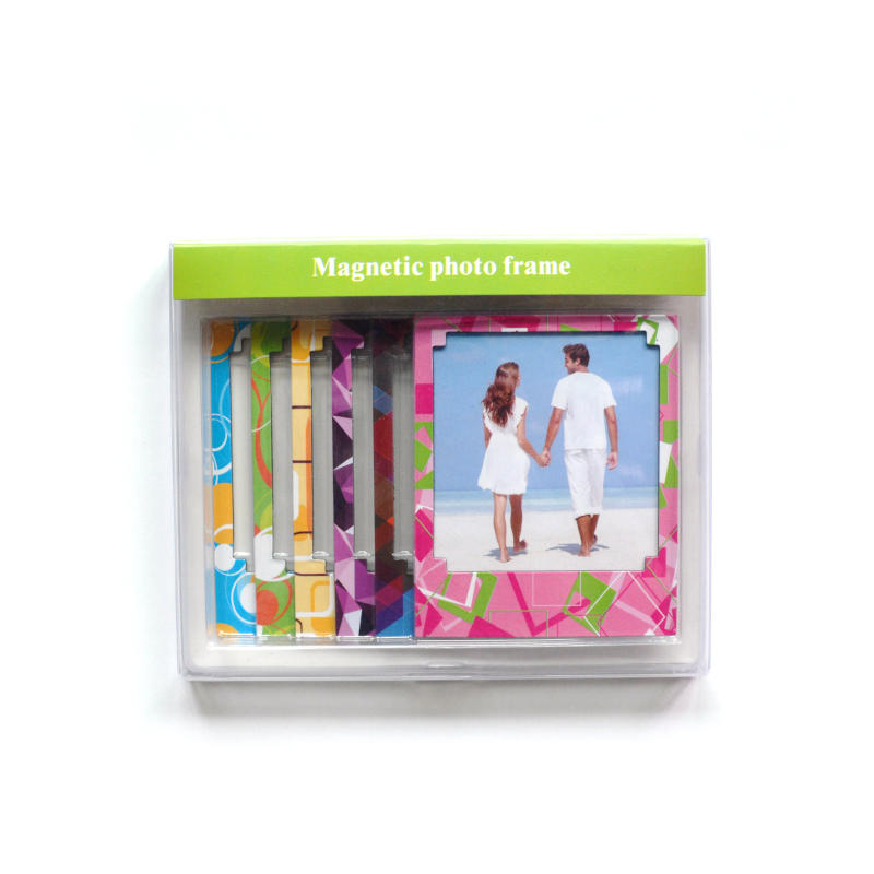 Customized colorful paper magnetic photo frames for promotional gift