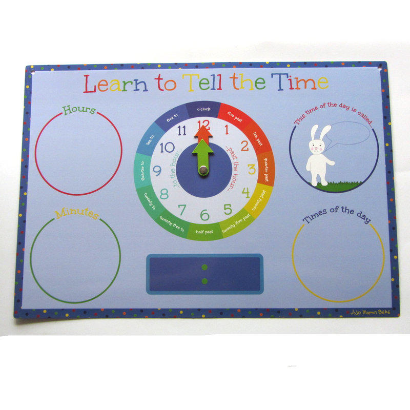 fridge magnet learn to tell the time board