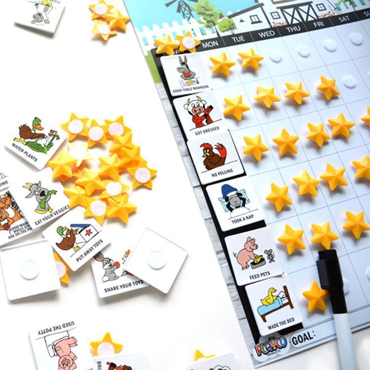 New Custom Magnet Star Chart Reward Chart 2019 for kids
