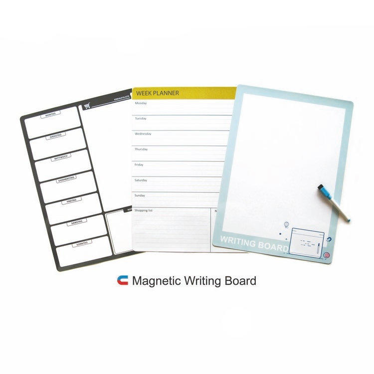factory direct OEM magnetic erasable white board for kitchen