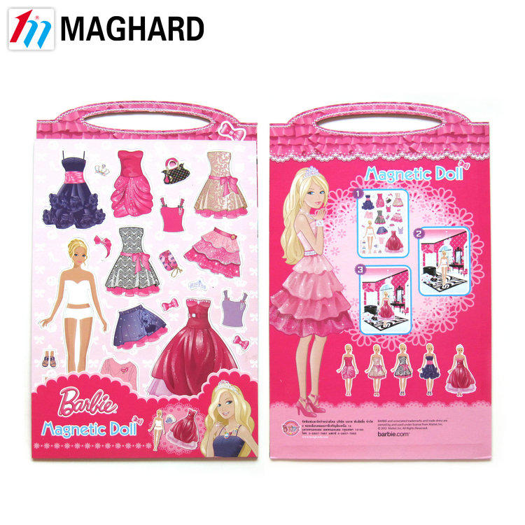 Creative educational magnetic puzzle Magnetic Dressup Doll kid's toy